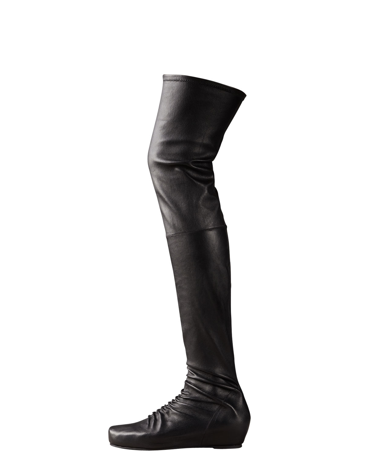 bc7a326a0fcb Rick Owens Internal-wedge Over-the-knee Boot in Black - Lyst