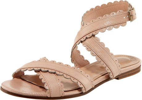 See By Chlo 233 Scallop Strap Flat Sandal In Pink Rose Lyst