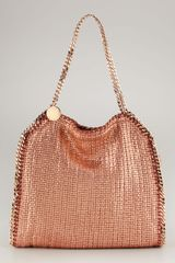 Stella McCartney Falabella Metallic Small Tote - Lyst