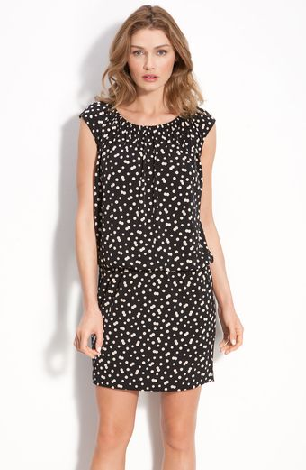 Taylor Dresses Dot Jersey Dress - Lyst