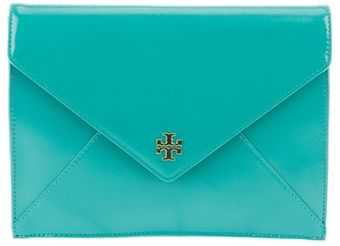 Tory Burch Leather Clutch - Lyst