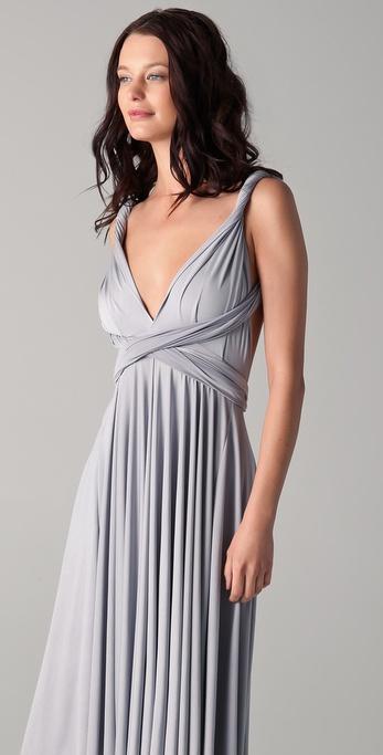 Lyst Twobirds Tea Length Convertible Dress In Gray