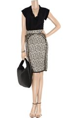 Zac Posen Tweed Pencil Skirt in Black - Lyst