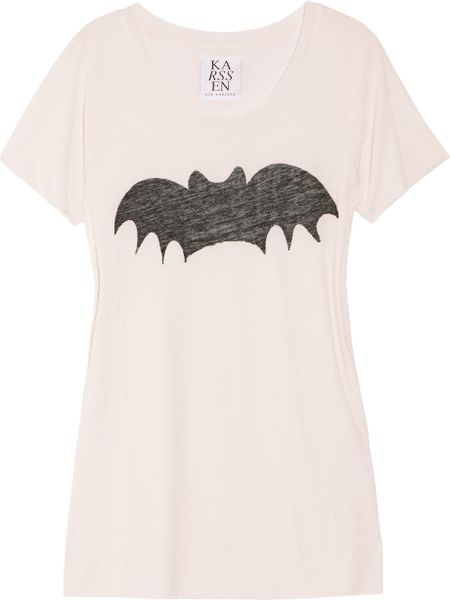 Zoe Karssen Bat Cotton and Modal-blend T-shirt in Pink - Lyst
