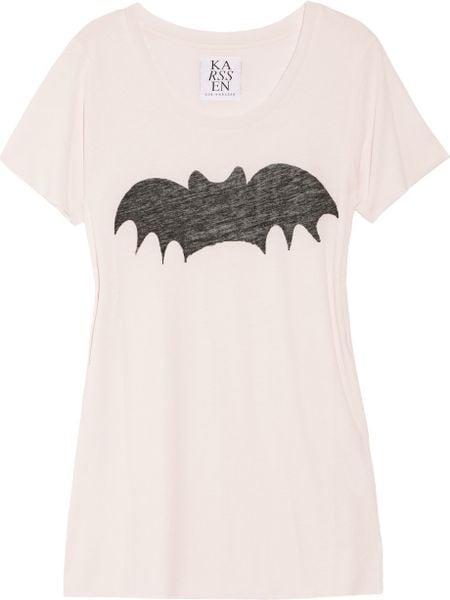 Zoe Karssen Bat Cotton and Modal-blend T-shirt in Pink