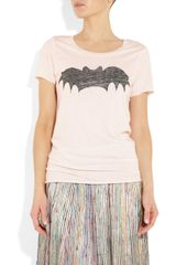 Zoe Karssen Bat Cotton and Modalblend Tshirt in Pink - Lyst