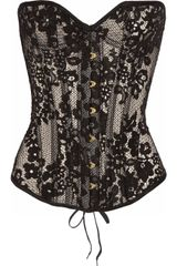 Agent Provocateur Janey Underwired Lace Corset in Black - Lyst