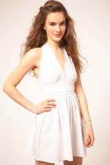 Asos Collection Asos Sundress with Halter Neck in White - Lyst