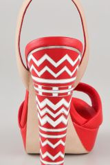 Bcbgmaxazria Marcel Mosaic Sandals in Red - Lyst