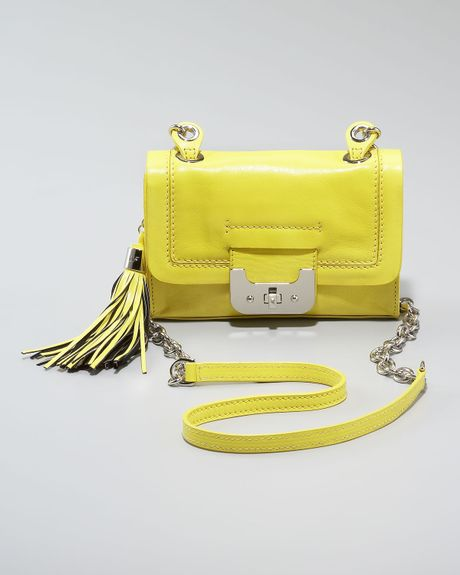 Diane Von Furstenberg Mini Harper Bag, Neon Yellow in Yellow (one sz) - Lyst