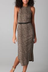 Dolce Vita Lynnie Long Leopard Print Dress - Lyst