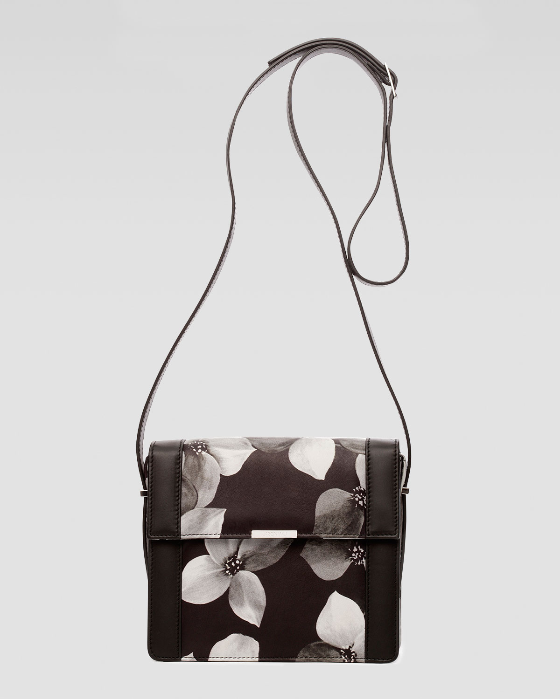 Jason Wu Floral-Print Kate Crossbody Bag In Black (grey Black)   Lyst
