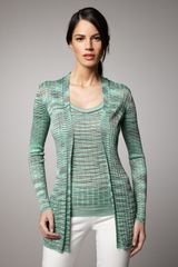 M Missoni Ribbed Space-dye Cardigan - Lyst
