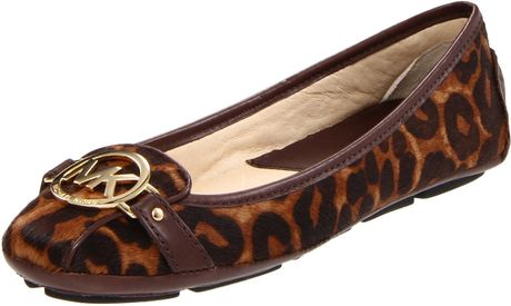 Michael By Michael Kors Fulton Moccasin in Brown (luggage printed haircalf) - Lyst