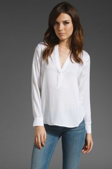 Vince 1/2 Placket Blouse - Lyst