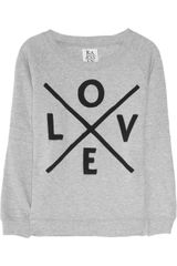 Zoe Karssen Love Printed Cotton-Blend Sweater - Lyst