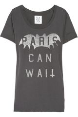Zoe Karssen Paris Can Wait Cotton And Modal-Blend T-shirt - Lyst