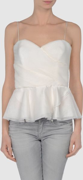 Armani Top in White (green) - Lyst