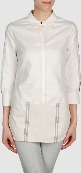 Costume National Blouse in White (ivory) - Lyst