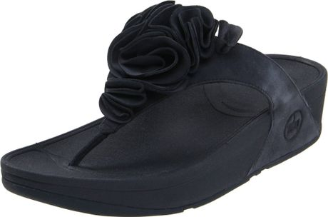 Fitflop Fitflop Womens Frou Thong Sandal in Black (super navy) - Lyst
