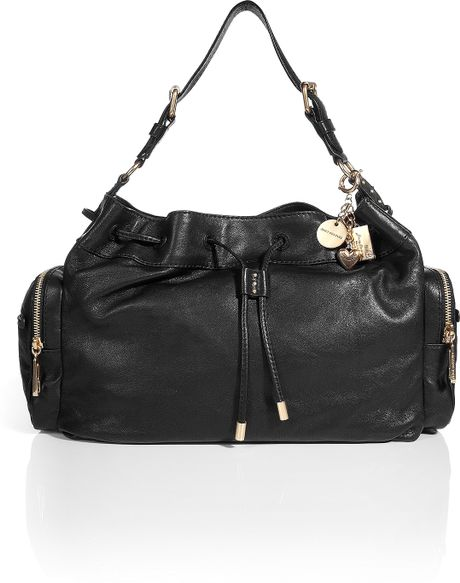 Juicy Couture Black Leather Shoulder Bag 72