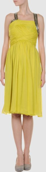 Matthew Williamson Short Dress in Yellow (orange) - Lyst