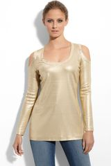 St. John Collection Sequin Interlock Silk Jersey Tunic - Lyst
