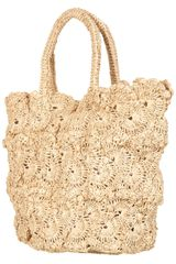 Topshop Crochet Shopper Bag - Lyst