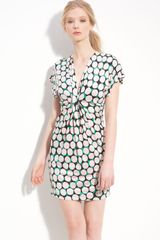 Diane Von Furstenberg Natalie Gathered Print Silk Dress - Lyst