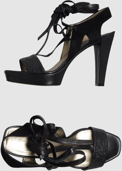 Donna Karan New York Platform Sandals in Black - Lyst