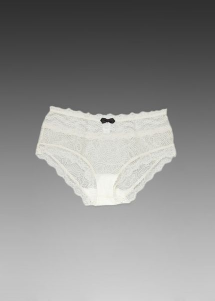 Eberjey Tux Luxe Lace Brief in Beige (ivory) - Lyst