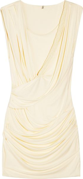 Iro Stretchjersey Dress in Beige (black) - Lyst