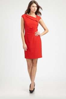 Kay Unger Asymmetrical Dress - Lyst