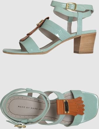 Marc By Marc Jacobs Low-heeled Sandals - Lyst