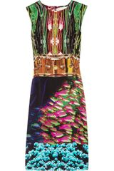 Mary Katrantzou Salamandra Printed Silk-crepe Dress - Lyst