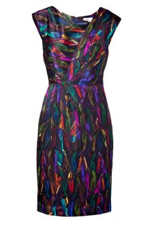 Milly Multicolor Printed Silk Dress - Lyst