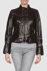Miss Sixty Leather Outerwear - Lyst