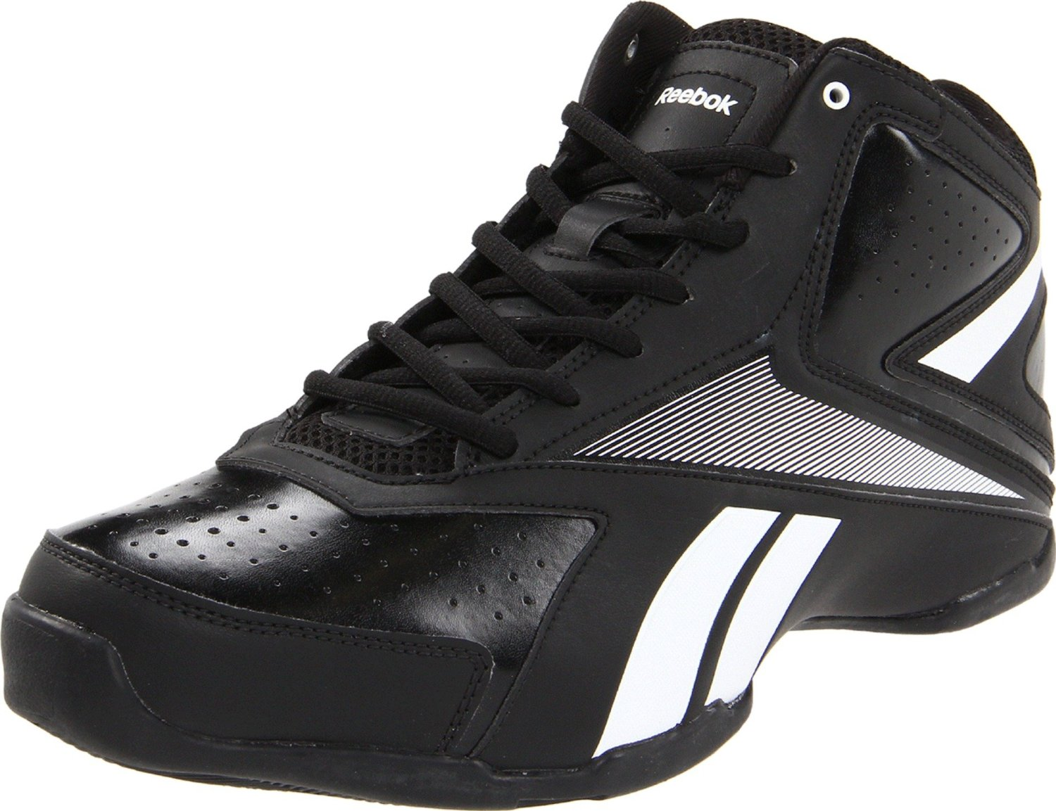 Reebok Mens Court General Mid Basketball Shoe in Black for ...