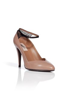 Valentino Powder Leather Pumps - Lyst