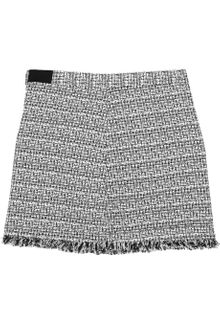 Alice + Olivia Tweed Mini Skirt - Lyst