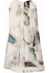 Alice + Olivia Printed Silkchiffon Dress in Multicolor (multicolored) - Lyst