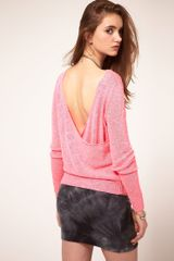 ASOS Collection Asos Jumper with Drape Back Detail - Lyst