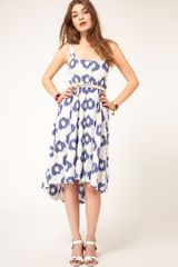 ASOS Collection Asos Summer Midi Dress in Smudge Spot Print - Lyst