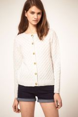 ASOS Collection Asos Cardigan in Honeycomb Stitch