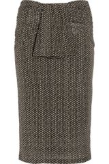 Burberry Raffia-print Stretch-jersey Pencil Skirt - Lyst