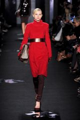 Diane Von Furstenberg Fall 2012 Red Long Sleeve Turtleneck Dress in Red - Lyst