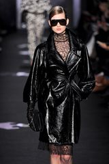 Diane Von Furstenberg Fall 2012 See Through Turtleneck Lace Dress In Black - Lyst