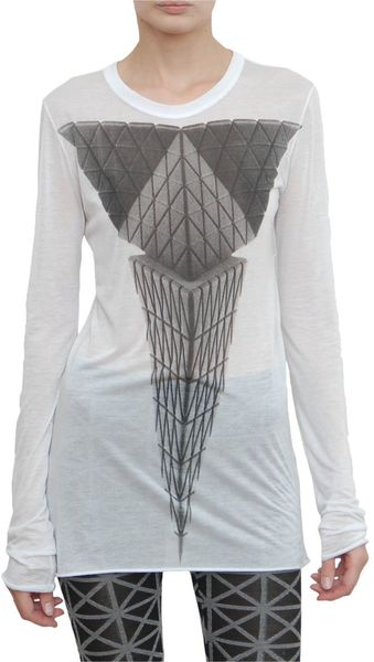 Gareth Pugh Long Sleeved Geometric Print T-shirt - Lyst