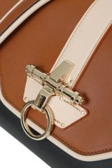 Givenchy Tricolored Leather Obsedia Bag with Chain Strap in Brown - Lyst