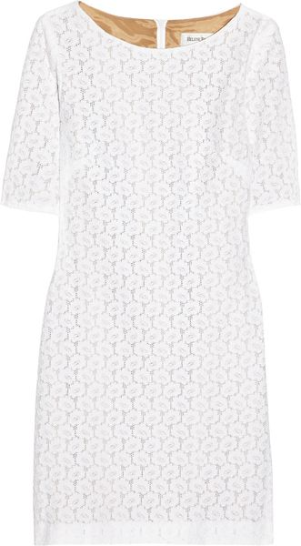 Helene Berman Lace Mini Dress in White - Lyst